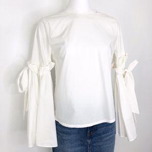 Gianni Bini | White Bell Sleeve Blouse